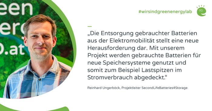 Projektleiter Reinhard Ungerböck zum Projekt