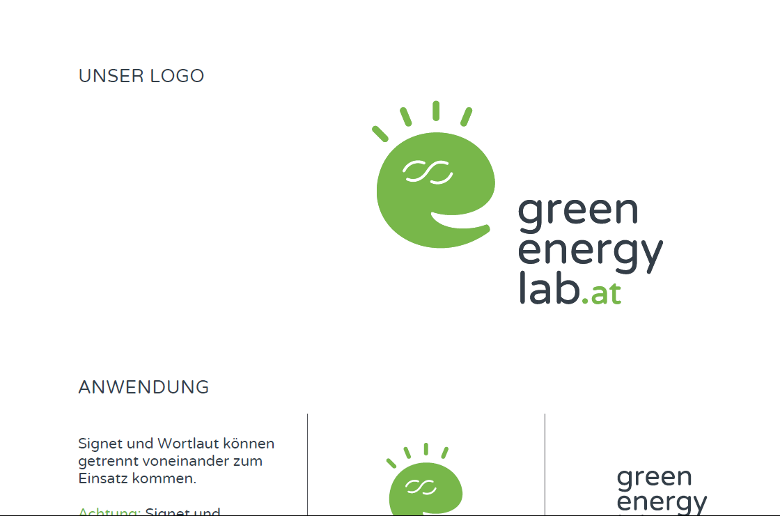 Logonutzung Green Energy Lab